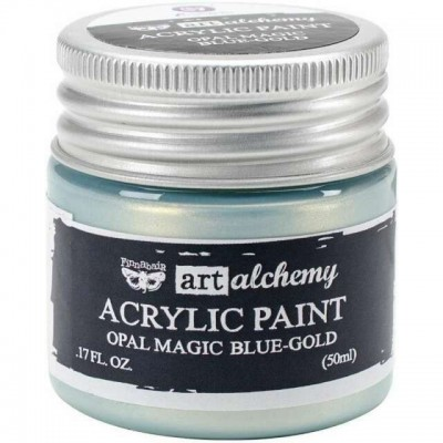 Finnabair - Art Alchemy - Opal Magic Acrylic Paint - Blue Gold