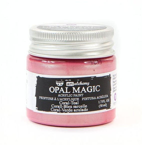 Finnabair - Art Alchemy - Opal Magic Acrylic Paint - Coral Teal