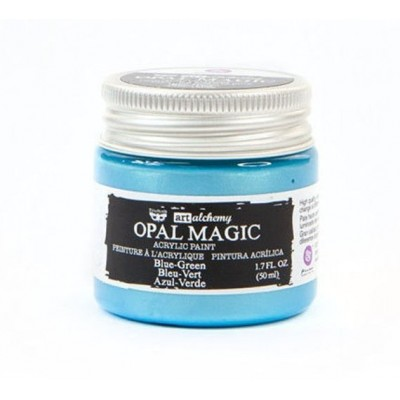 Finnabair - Art Alchemy - Opal Magic Acrylic Paint - Blue Green