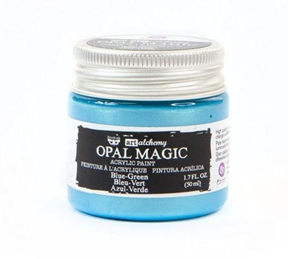 Finnabair - Art Alchemy - Opal Magic Acrylic Paint - Blue Green