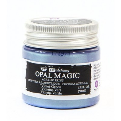 Finnabair - Art Alchemy - Opal Magic Acrylic Paint - Violet Green