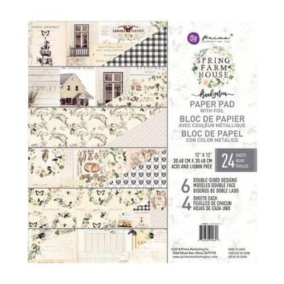 """Prima Marketing - Spring Farmhouse kollekció - 12""""x12"""" maxi papírkollekció"""