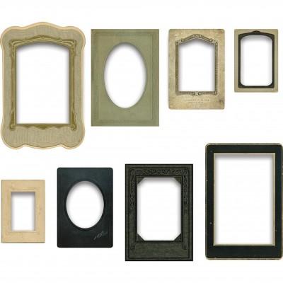 Tim Holtz Idea-ology Baseboard Frames keretek (8 db)