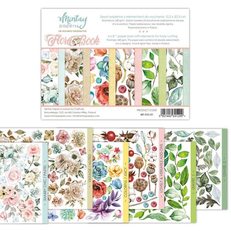 Flora Book - kivágóív szett 6x8